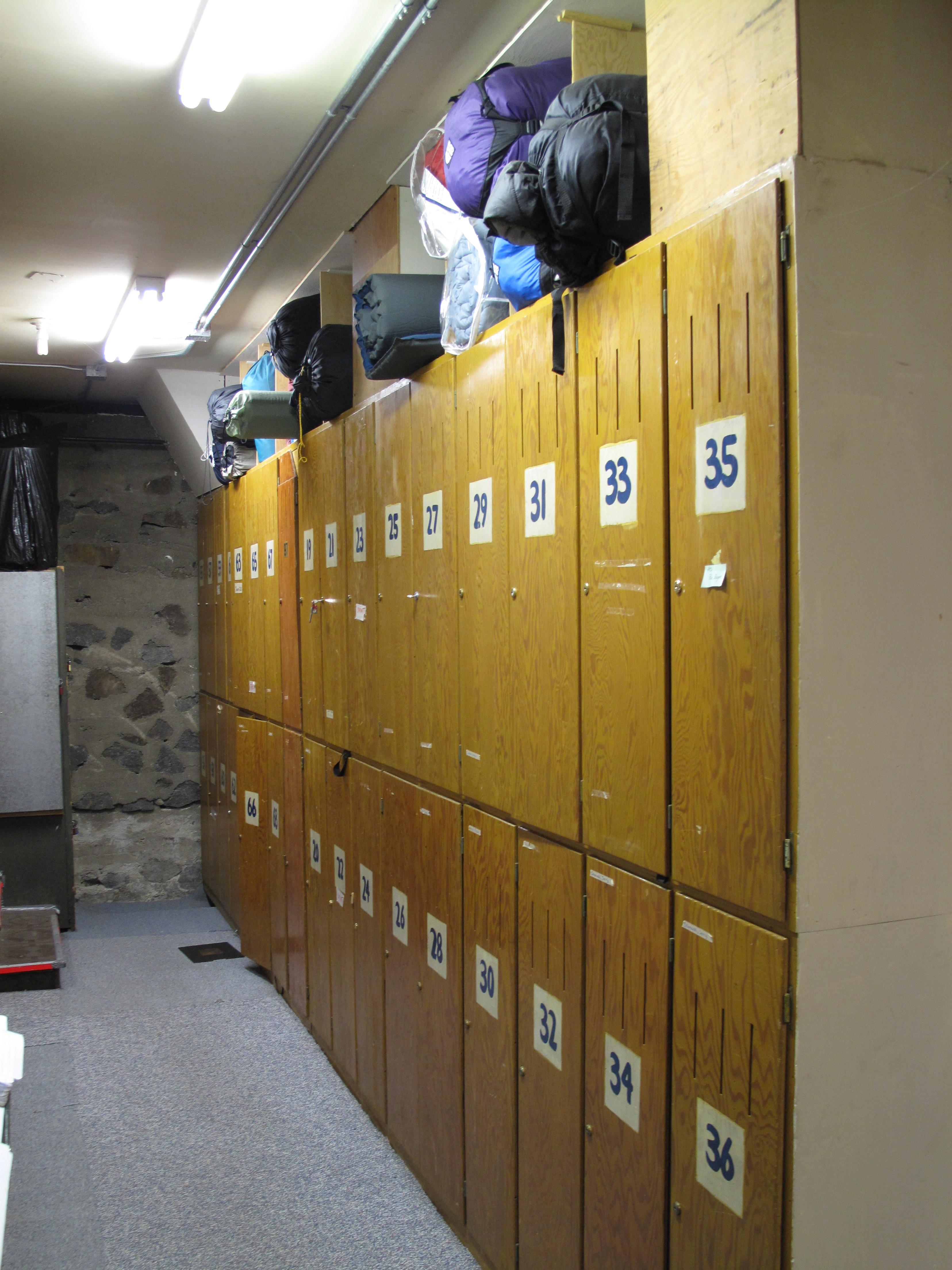 Lockers at the Oakland Ski Club