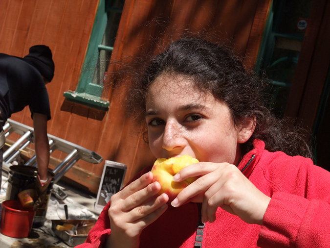 Taking a peach break